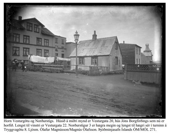 Úr: Mýrargötusvæði húsakönnun og fornleifaskráning, Minjastofnun Reykjavíkur 2003.